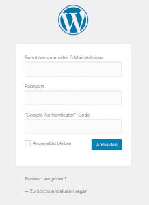 Two-Factor-Authentication - Erweiterter Login